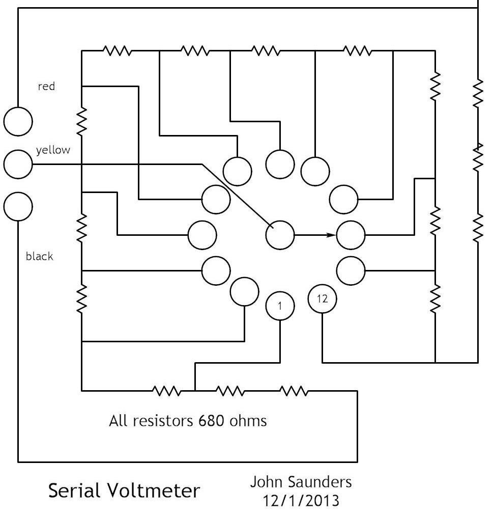 Serial Voltmeter Circuit Diagrams Voltage Meter Switch